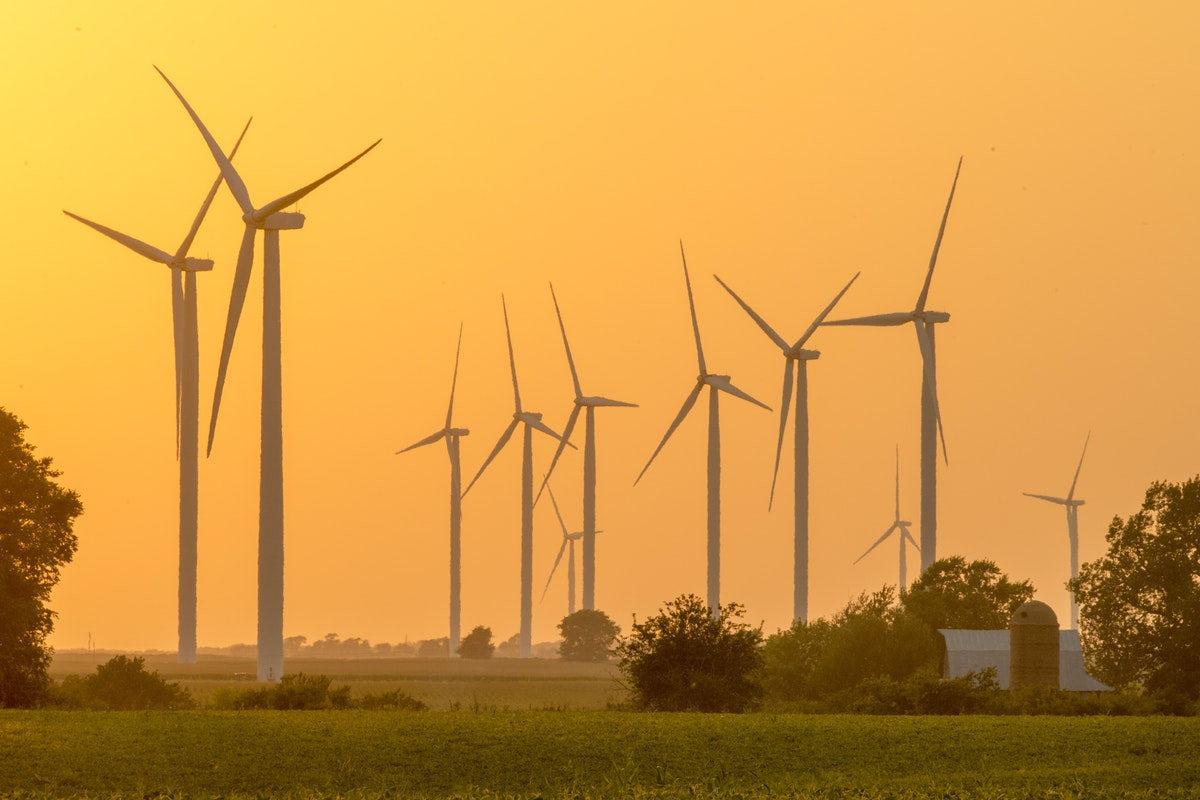 Wind farm providing clean energy